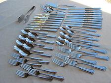 Reed Barton Stainless Templeton Ice Teas Steak Knives Servers, Forks Spoons 51P