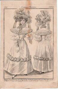 Illustration Journal des dames et de la Mode—Costume Parisien—N° 2602—1828