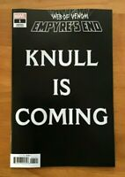 WEB OF VENOM EMPYRES END #1 KNULL IS COMING GULU ViILLANOVA VARIANT MARVEL NM-