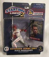 NEW~ALEX RODRIGUEZ~RANGERS~2001 STARTING LINEUP 2 Action Figure-EXTENDED SERIES