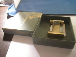 Brass Initial  letter   I   Paperweight by Stuart  Houghton UK  Boxed