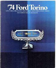 FORD Torino & GRAN TORINO 1974 Stati Uniti del mercato delle vendite BROCHURE Brougham Sport standard