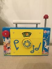 Vintage Fisher Price TV - Radio Music Box #166 The Farmer in the Dell 1963 Works