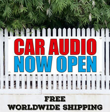 Car Audio Now Open Banner Vinyl Advertising Flag Sign Many Sizes