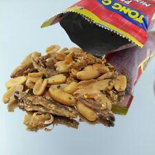 ุ6 x peanuts nut mixed food dried fish herb spicy snack beer picnic party halal