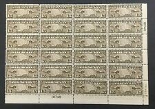 C8 #18746 1926 15 CENT MAPS AND PLANES large block of 24 MNH OG