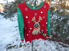 CHRISTMAS WINTER UGLY SWEATER PUG DOG PLUS SIZE 3X NWT