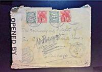 Netherlands 1916 Censored Cover to USA - Z1056