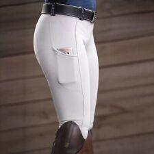 Horse Riding Leggings Tights Grip Phone Pocket Equestrian Pants Women Ladies