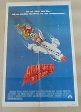 AIRPLANE II  2 ORIGINAL CINEMA US ONE SHEET MOVIE POSTER FROM 1982 SANTA CLAUSE