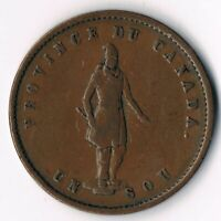 Bank of Quebeck Halfpenny 1852 PC3.