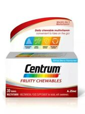 3x Centrum Fruity Chewables Multivitamin & Mineral - 30 Tablets