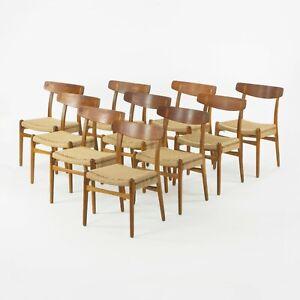 Set of 10 Vintage Hans Wegner CH23 Dining Chairs for Carl Hansen & Son Denmark