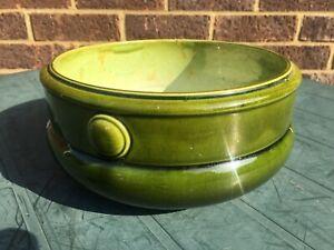 BRETBY Earthenware Green Glaze Planter Jardiniere Vase Pot - 1911 to 1920