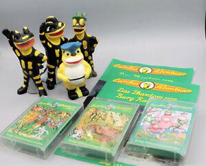 Lurchi Salamander Werbefigur Konvolut Lurchis Abenteuer Casetten Quitschfiguren