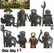 MINIFIGURES - LORD OF THE RINGS - HOBBIT - ORCHI - URUK HAI - ORC - COMPATIBILE
