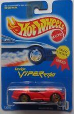 1992 Hot Wheels Dodge Viper Col. #210 (Red)(Gold Ultra Hot Hub Wheels)