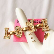 Betsey Johnson '60s Mod' LOVE Triple Stretch Ring  Retired/NWT
