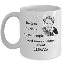 Science Physics mug gift - curious ideas Scientist Marie Curies physicist quote
