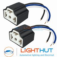 2 x H4 Ceramic Bulb Holder Plug Headlamp Headlight Connector fit Nissan Micra
