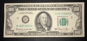 1981 A (B) $100 Federal Reserve Note New York Crisp Uncirculated Old Money