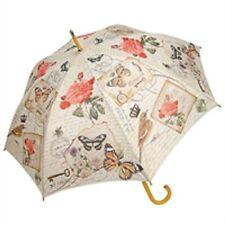 Romantic Vintage Print Cream Womens Ladies Sun Parasol Rain Umbrella