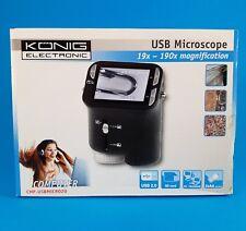 microscope USB grossisement 19x à 190X muni de 4 led  CMP-usbmicro20