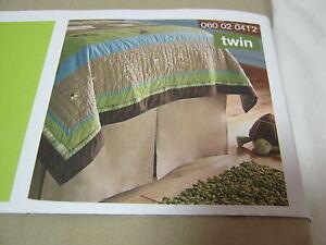 New Circo Tan / Khaki / BeigeTwin Tailored Bedskirt 39x75x14 NIP