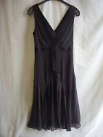 Ladies Dress - Ted Baker, size 2, brown, 100% silk, BNWT, stunning, LOOK - 2048