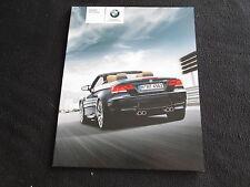 2008 BMW M3 Convertible Brochure E93 M 3 Cabriolet Motorsport US Sales Catalog