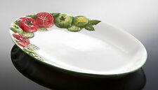 BASSANO große ovale Tomaten Caprese Servierplatte 40x26 italienische Keramik NEU