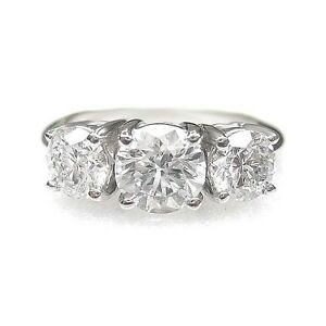 2.32 cttw H SI2 ROUND CUT 3 STONE DIAMOND ENGAGEMENT RING