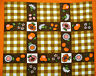 GERMANY-VINTAGE AUTHENTIC MALIMO SUMMER PLAID BROWN RED COTTON KITCHEN TEA TOWEL