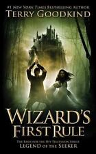Wizard's First Rule Mass Market Paperbound Terry Goodkind