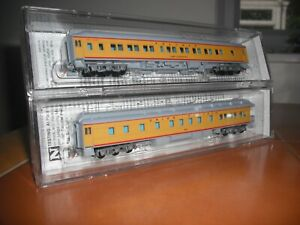N  Micro-Trains  Union  Pacific  12  Wheel  Coaches  (two)