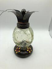 New listing Pineapple Glass Hummingbird Feeder