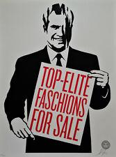 Shepard Fairey (Obey) Top-Elite Faschions for Sale, Sign.,num.,dat.