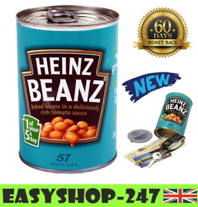 Secret Heinz Baked Bean Tin Can Safe Metal Money Cash Security Hidden Stash Key