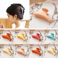 Women Candy Color Hair Clip Plastic Hairpins Banana Grip Hair Claws Accessories
