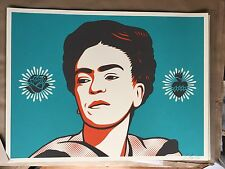 Ernesto Yerena Ganas Frida 18X24 Signed #/200- We The People W/ Fairey  Sold Out