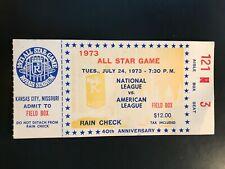 1973 MLB ALL STAR GAME  TICKET STUB FIELD BOX - WILLIE MAYS LAST