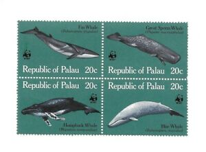 L9498 REPUBLIC OF PALAU WWF 1983 SG25/8 WHALES, MARINE LIFE