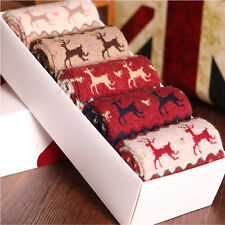 Damen Schnee flocke Wollsocken Socken Schafwollsocken Kuschelsocken Set