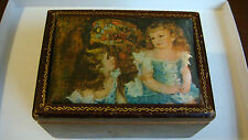 VINTAGE MUSIC JEWELRY BOX RENOIR PAINTING THE CHARPENTIER CHILDREN MADE IN JAPAN