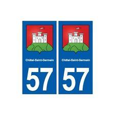 57 Châtel-Saint-Germain blason autocollant plaque stickers ville droits