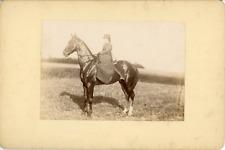 Sport Équestre, Femme sur son cheval, ca.1900, Vintage citrate print Vintage cit