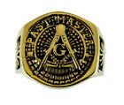 T54 Past Master Rocker Ring Masonic Blue Lodge Mason Noble Square Compass
