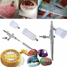 0.3mm Gravity Feed Dual Action Cake Wall Stone Airbrush Paint Spray Gun Kit Set
