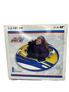 Vintage Intex The Sport Set 48 Inch Snow & Pool Tube Model #68294 From 2001 NOS