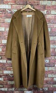 Max Mara Wool Double Breasted Oversized Womens Coat UK 16  J218